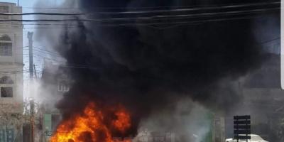 احتراق محطة نفط برداع في البيضاء