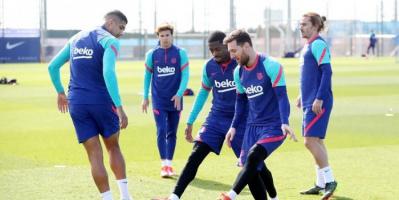 برشلونة يستأنف تدريباته بعد صدمة الكلاسيكو