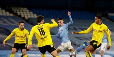 السيتي يدافع أمام دورتموند بإياب ربع نهائي دوري الأبطال