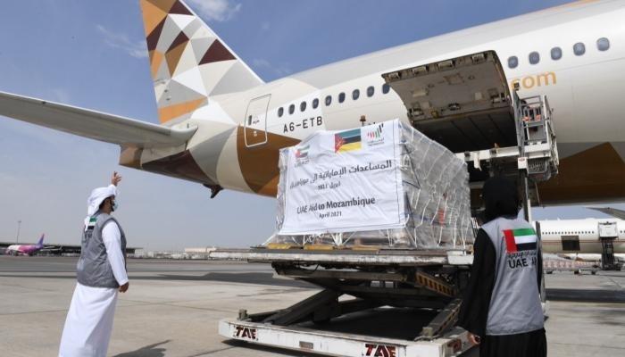 الإمارات تُرسل طائرة مساعدات عاجلة إلى موزمبيق