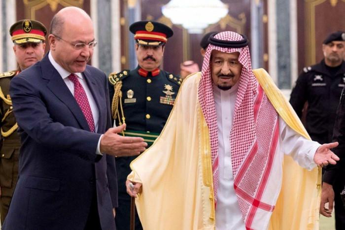 الرئيس العراقي يبحث مع العاهل السعودي مواجهة التحديات المشتركة
