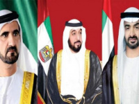 رئيس الإمارات وبن راشد وبن زايد يهنئون الرئيس السوري باليوم الوطني