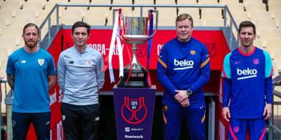 ميسي يقود برشلونة أمام بلباو في نهائي كأس ملك إسبانيا