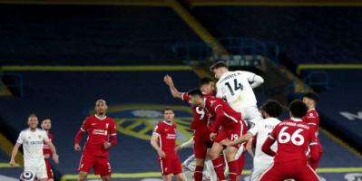 ليدز يونايتد يحبط ليفربول ويحرمه من الصعود للمركز الرابع في الدوري الإنجليزي
