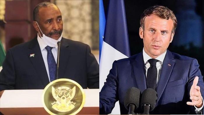 الرئيس الفرنسي يلتقي برئيس السيادة السوداني بتشاد