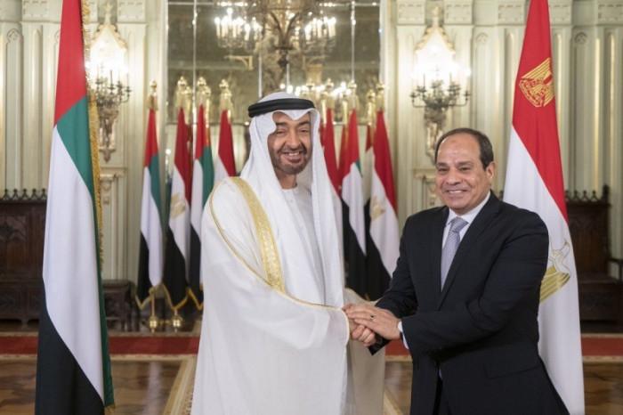 بن زايد والسيسي يؤكدان على عمق التنسيق المشترك لحماية الأمن القومي العربي