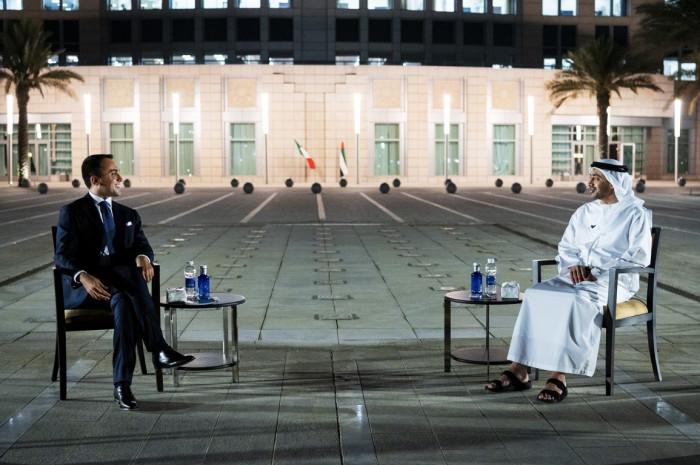 الشيخ عبد الله بن زايد يستقبل نظيره الإيطالي بأبوظبي