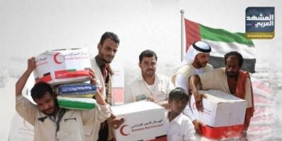 """الغوث الإماراتي لليمن.. """"إنسانية"""" يقدّرها العالم ويعاديها إخوان الشرعية"""