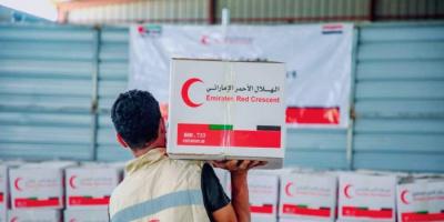 """""""هلال الإمارات"""" يمنح مساعدات لأسر الشهداء والأيتام بحضرموت"""