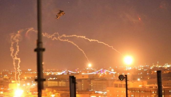 5 صواريخ كاتيوشا تستهدف قاعدة للتحالف الدولي بمطار بغداد