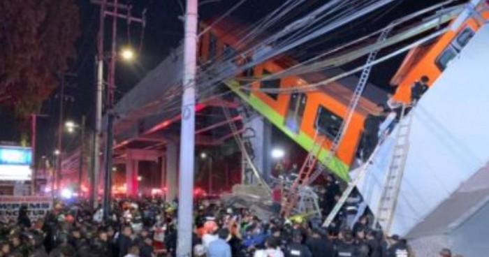 المكسيك.. وفاة 20 شخصًا وإصابة العشرات إثر انهيار جسر مترو معلق