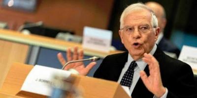 الممثل الأعلى للاتحاد الأوروبي يبحث مع وزير الخارجية الأمريكي تطورات الاتفاق النووي الايراني