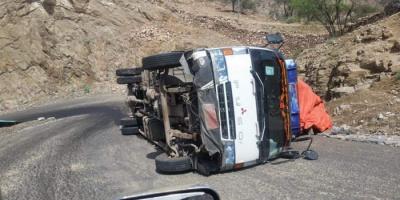 52 ضحية لـ 22 حادثًا مروريًا في لحج