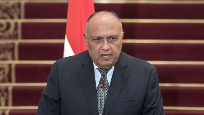 وزير الخارجية المصري يبحث مع المبعوث الأمريكي ملف سد النهضة