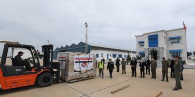 طائرة نقل عسكرية مصرية على متنها مساعدات طبية تتوجه إلى تونس