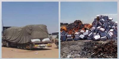 مصادرة 1450 كرتون أغذية مخالفة بميناء عدن