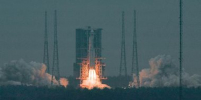 الصاروخ الصيني يسقط فوق المحيط الهندي