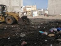 حملة نظافة في الحبيلين استعدادًا للعيد