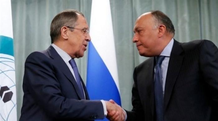شكري يبحث مع نظيره الروسي التصعيد في غزة