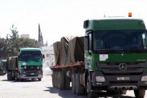 الأردن يُرسل قافلة مساعدات طبية عاجلة لفلسطين