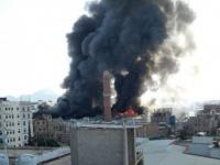 احتراق مركز تجاري كبير في صنعاء