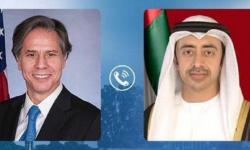 تفاصيل الإتصال بين وزير الخارجية الإماراتي ونظيره الأمريكي