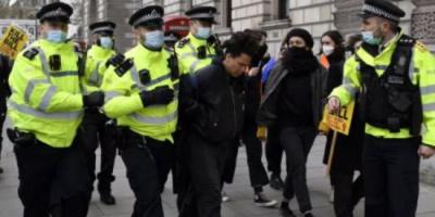 الشرطة البريطانية تعتقل 7 أشخاص خلال مسيرة داعمة لفلسطين