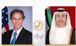الشيخ عبد الله بن زايد يبحث مع وزير الخارجية الأمريكي تعزيز الاستقرار بالمنطقة