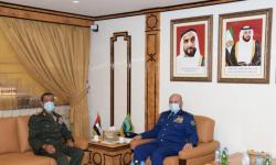 رئيس أركان القوات المسلحة الإماراتية يستقبل نظيره السعودي