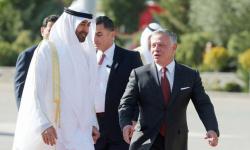 الشيخ محمد بن زايد يصل الأردن ويلتقي بالملك عبد الله