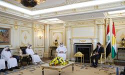 رئيس كردستان العراق يشيد بالدور الإماراتي في دعم الإقليم والنازحين إليه (صور)