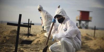 البرازيل تعلن ارتفاع وفيات كورونا بمعدل: 2408 حالات