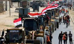آليات مصرية تصل غزة للمساهمة في إعمار القطاع (صور)