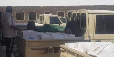 زايد الإنسانية توزع مساعدات غذائية في شرق سقطرى