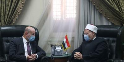 مفتي مصر يستقبل وفدًا فلسطينيًّا لبحث الأوضاع الحالية في الأراضي المحتلة