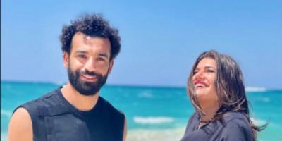 ديانا هشام تنشر صورة جديدة مع محمد صلاح.. وتعلق :من الشرف مقابلتك