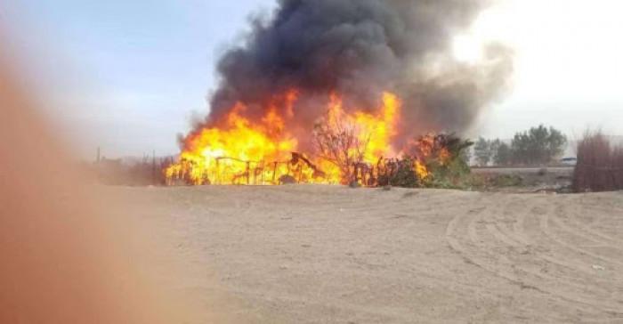 تفجير شاحنة أبين.. هجوم إخواني بسلاح القاعدة يستهدف قوات الحزام الأمني