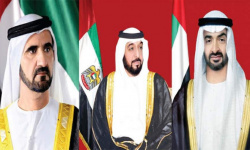 رئيس الإمارات وبن راشد وبن زايد يهنئون الرئيس الروسي باليوم الوطني