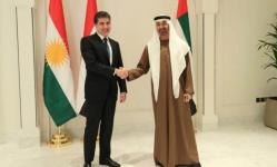 بن زايد يستقبل رئيس إقليم كردستان العراق في أبوظبي