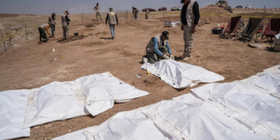 استخراج رفات 123 شخصًا من ضحايا داعش بالعراق