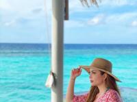من أمام البحر.. نسرين طافش تستمتع بإجازتها في المالديف