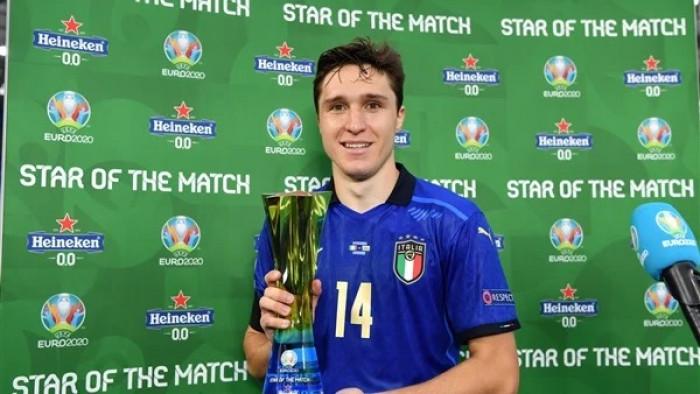 كييزا أفضل لاعب في مباراة إيطاليا وويلز