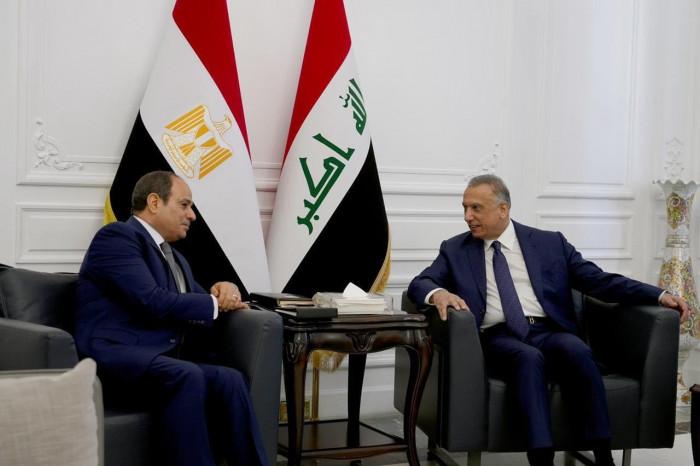 رئيس الوزراء العراقي يلتقي العاهل الأردني والرئيس المصري