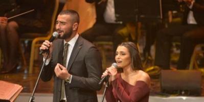 الشرنوبي وكارمن سليمان يبدآن تسجيل أغاني مسرحيتهما الجديدة