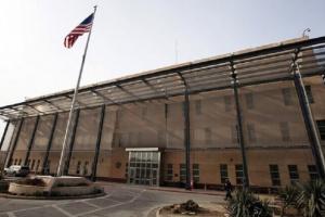 استهداف السفارة الأمريكية في بغداد بصاروخي كاتيوشا