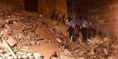 مصر: انهيار عقار ومصرع 3 أشخاص وإصابة آخرين
