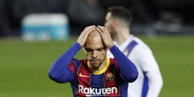 برشلونة يفقد برايثوايت أربعة أشهر للإصابة