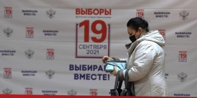 افتتاح مراكز اقتراع انتخابات مجلس الدوما الروسي
