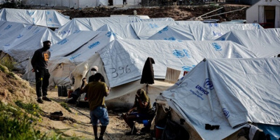 اليونان تفتتح مخيم لطالبي اللجوء في جزيرة ساموس
