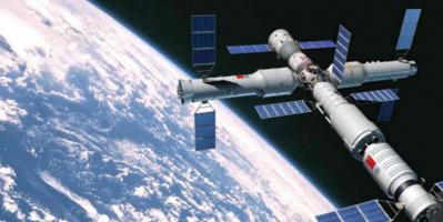 مركبة فضائية صينية تلتحم مع وحدة بمحطة فضاء